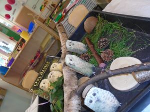 Story sacks, Owl Babies at happy Kids Heybury Close Day Nursery, Beswick, Manchester